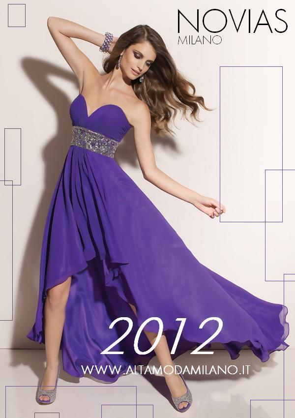 3a03b142e09e Abiti sposa colorati 2012 corti davanti lunghi dietro .