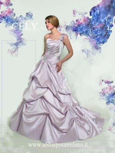 81f44af190a2 Le spose di milano NOVIAS abiti da sposa colorati rosso lilla rosa antico e  blu